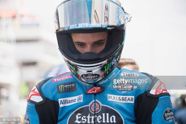 Alex Marquez of Spain and EG 00 Marc VDS prepares to start on the grid during the Moto2 race during the MotoGp of Catalunya Race at Circuit de...