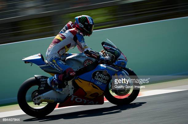 Alex Marquez of Spain and EG 00 Marc VDS rides during free practice for the MotoGP of Catalunya at Circuit de Catalunya on June 9 2017 in Montmelo...