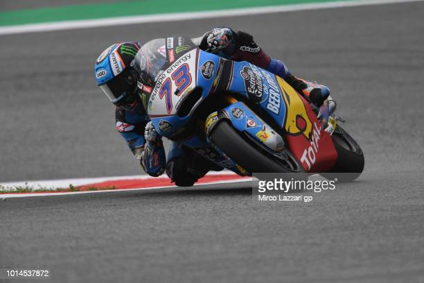 Alex Marquez of Spain and EG 00 Marc VDS rounds the bend during the MotoGp of Austria Free Practice at Red Bull Ring on August 10 2018 in Spielberg...