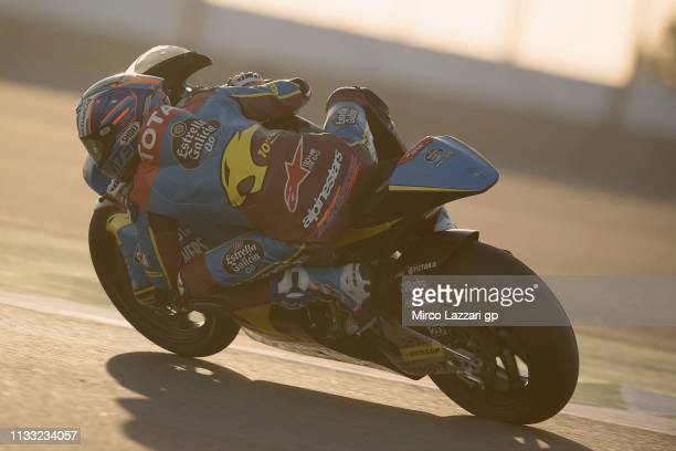 Alex Marquez of Spain and EG 00 Marc VDS rounds the bend during the Moto2 Moto3 Tests Day Two at Losail Circuit on March 02 2019 in Doha Qatar