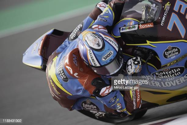 Alex Marquez of Spain and EG 00 Marc VDS rounds the bend during the Moto2 Moto3 Tests Day Three at Losail Circuit on March 03 2019 in Doha Qatar