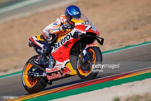 Alex Marquez of Spain and Repsol Honda Team during the MotoGP of Aragon at Motorland Aragon Circuit on October 18, 2020 in Alcaniz, Spain.