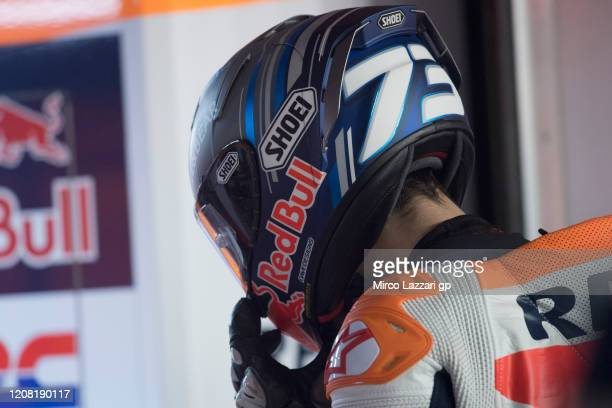 Alex Marquez of Spain and Repsol Honda Team returns in box during the MotoGP Tests at Losail Circuit on February 23, 2020 in Doha, Qatar.