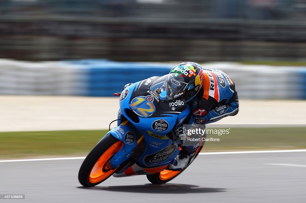 Alex Marquez of Spain rides the #12 Estella Galica O.O Honda during qualifying for the 2014 MotoGP of Australia at Phillip Island Grand Prix Circuit on October 18, 2014 in Phillip Island, Australia.