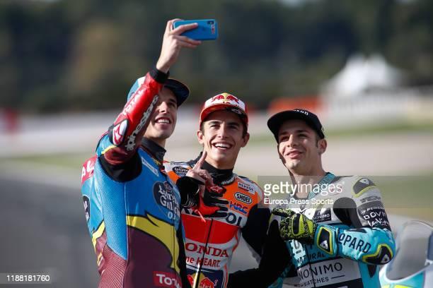 Alex Marquez, rider of EG 0,0 Marc VDS from Spain, Marc Marquez, rider of Repsol Honda Team from Spain, and Lorenzo Dalla Porta, raider of Leopard...