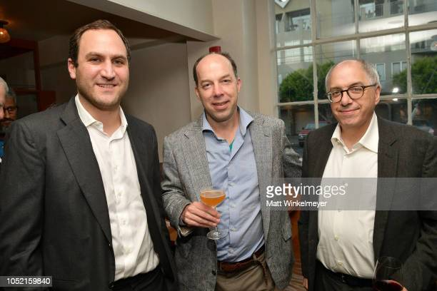 Alex Marson Stephen Quake and Steven Levy attend VIP Dinner For WIRED's 25th Anniversary Hosted By Nicholas Thompson And Anna Wintour at Tartine...
