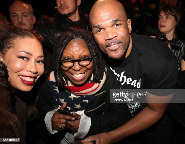 Alex Martin Whoopi Goldberg and Darryl 'DMC' McDaniels attend An Evening Of Hip Hop at Penthouse at Dream Downtown on February 1 2017 in New York City
