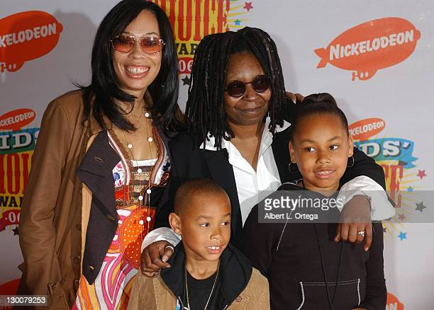 Alex Martin Whoopi Goldberg and family during Nickelodeon's 19th Annual Kids' Choice Awards Arrivals at Pauley Pavilion in Westwood California United...