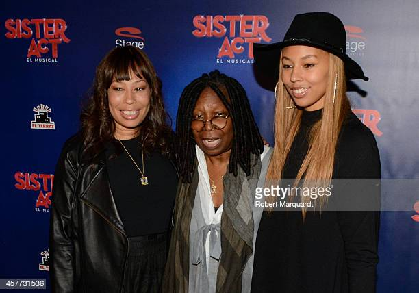 Alex Martin Whoopi Goldberg and Jerzey Martin attend the premiere of 'Sister Act' at the Theater Tivoli on October 23 2014 in Barcelona Spain