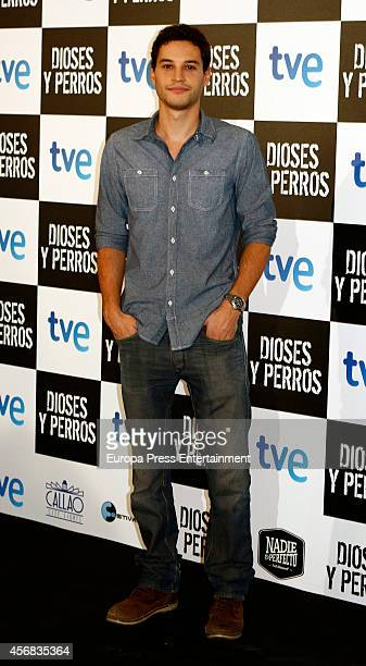 Alex Martinez attends 'Dioses Y Perros' premiere on October 7 2014 in Madrid Spain