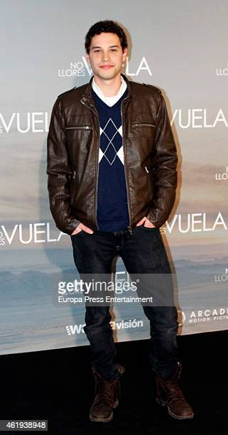 Alex Martinez attends 'No llores vuela' premiere at Callao cinema on January 21 2015 in Madrid Spain
