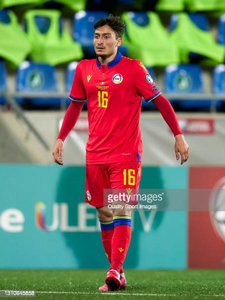 Alex Martinez of Andorra looks on during the FIFA World Cup 2022 Qatar qualifying Group I match between Andorra and Hungary on March 31, at Estadi...