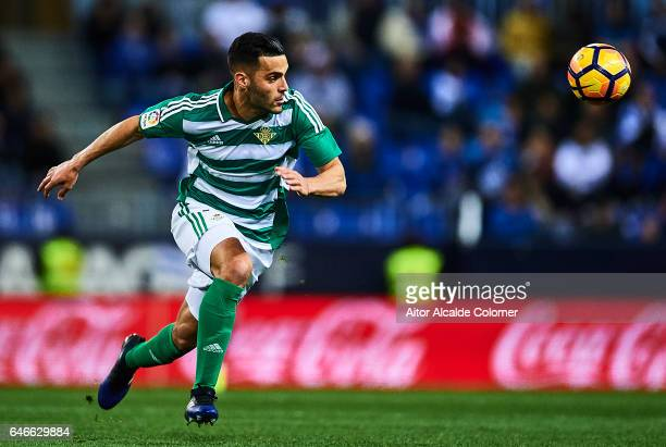 Alex Martinez of Real Betis Balompie in action during La Liga match between Malaga CF and UD Las Palmas at La Rosaleda Stadium February 28 2017 in...