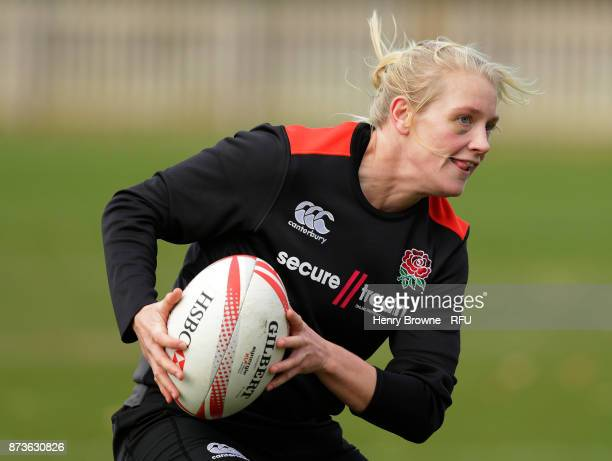 Alex Matthewsduring England Women Sevens training at Bisham Abbey on November 13 2017 in Marlow England