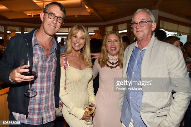 Alex Matthiessen Christie Brinkley Lisa Schifter Greenberg and Robbie Stein attend Cocktails to Learn About The Sag Harbor Cinema Project at Le...