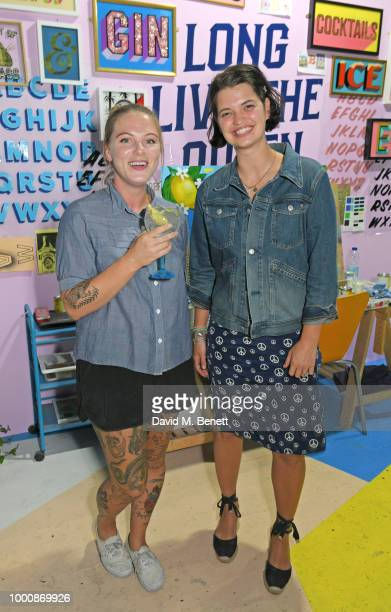 Alex May Hughes and Pixie Geldof attend the launch of Bombay Sapphire's 'Canvas' a destination designed to stir creativity and inspire creative...