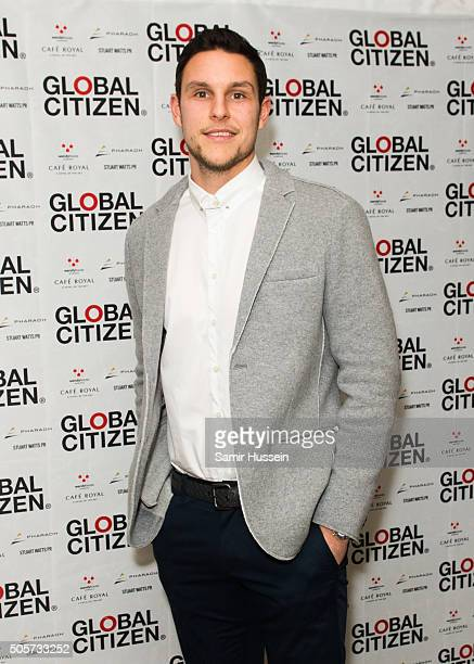 Alex McCarthy attends the Global Citizen dinner at Cafe Royal Hotel on January 19 2016 in London England