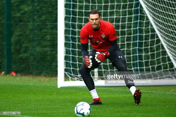 Alex McCarthy during a Southampton FC training session at Staplewood Complex on August 16 2018 in Southampton England