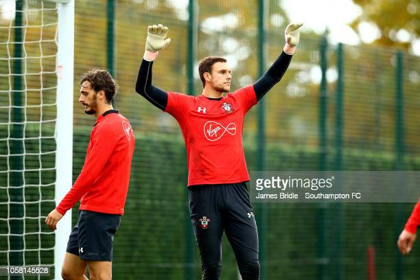 Alex McCarthy during a Southampton FC training session at Staplewood Complex on November 6 2018 in Southampton England