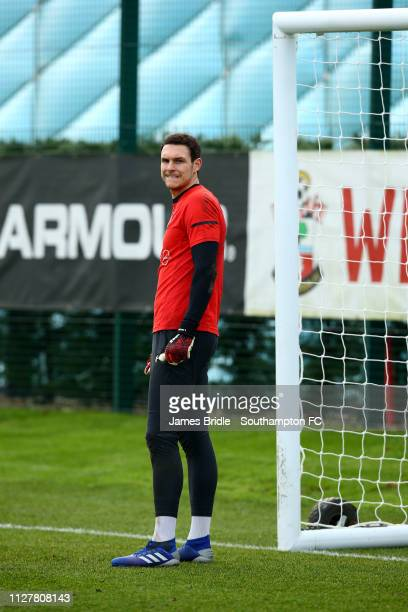 Alex McCarthy during a Southampton FC training session at Staplewood Complex on February 06 2019 in Southampton England