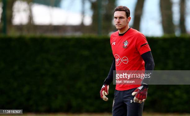 Alex McCarthy during a Southampton FC training session at the Staplewood Campus on February 07 2019 in Southampton England