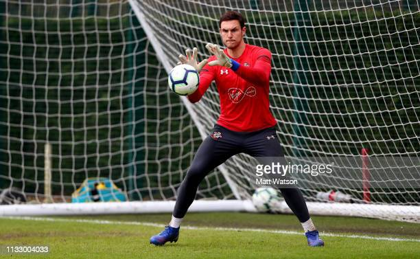 Alex McCarthy during a Southampton FC training session at the Staplewood Campus on March 01 2019 in Southampton England