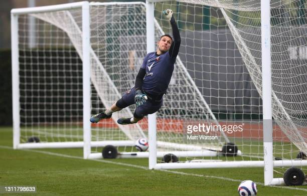 Alex McCarthy during a Southampton FC training session at the Staplewood Campus on April 10, 2021 in Southampton, England.