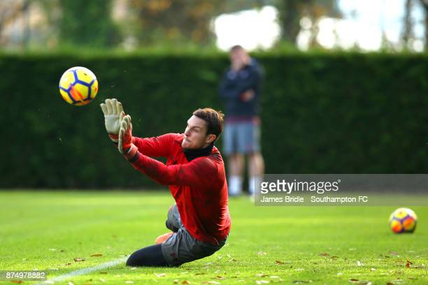 Alex McCarthy during a Southampton FC training session at the Staplewood Campus on November 16 2017 in Southampton England