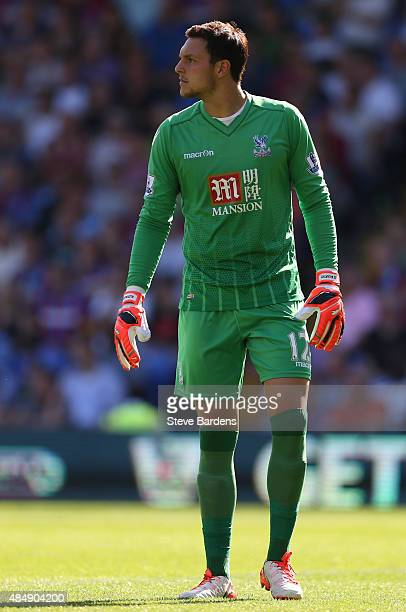 Alex McCarthy of Crystal Palace during the Barclays Premier League match between Crystal Palace and Aston Villa at Selhurst Park on August 22 2015 in...