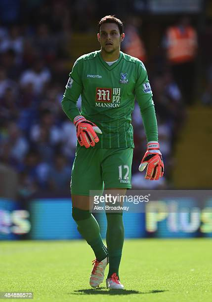 Alex McCarthy of Crystal Palace looks on during the Barclays Premier League match between Crystal Palace and Aston Villa at Selhurst Park on August...