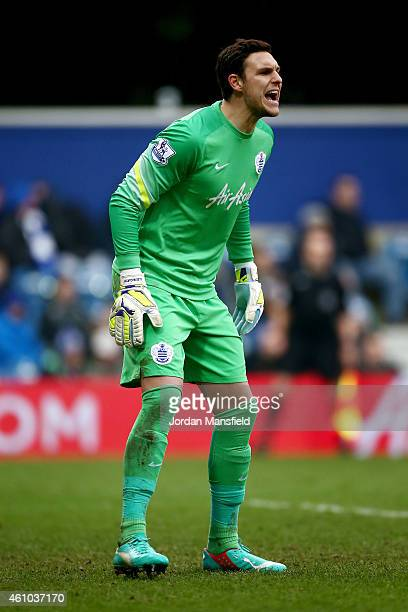 Alex McCarthy of QPR in action during the FA Cup Third Round match between Queens Park Rangers and Sheffield United at Loftus Road on January 4 2015...