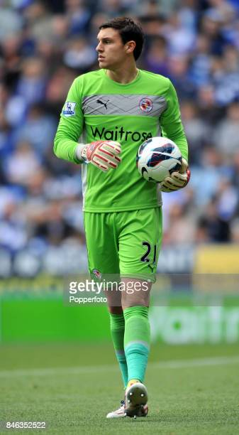Alex McCarthy of Reading in action during the Barclays Premier League match between Reading and Newcastle United at Madejski Stadium on September 29...