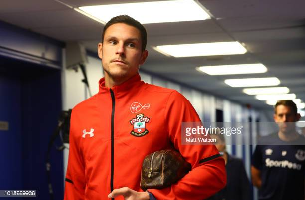 Alex McCarthy of Southampton ahead of the Premier League match between Everton FC and Southampton FC at Goodison Park on August 18 2018 in Liverpool...