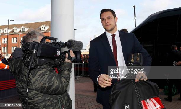 Alex McCarthy of Southampton ahead of the Premier League match between Southampton FC and Cardiff City at St Mary's Stadium on February 09 2019 in...