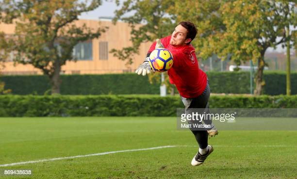 Alex McCarthy of Southampton during a Southampton FC training session at the Staplewood Campus on November 2 2017 in Southampton England