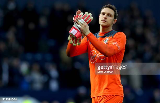Alex McCarthy of Southampton during the Emirates FA Cup fifth round match between West Bromwich Albion and Southampton at The Hawthorns on February...