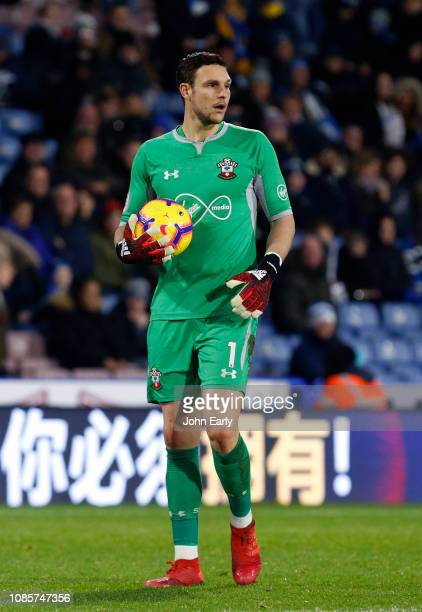 Alex McCarthy of Southampton during the Premier League match between Huddersfield Town and Southampton FC at John Smith's Stadium on December 22 2018...