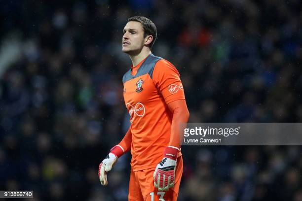 Alex McCarthy of Southampton during the Premier League match between West Bromwich Albion and Southampton at The Hawthorns on February 3 2018 in West...