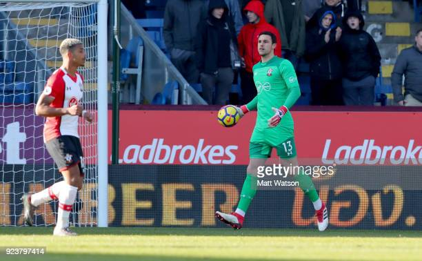 Alex McCarthy of Southampton during the Premier League match between Burnley and Southampton at Turf Moor on February 24 2018 in Burnley England