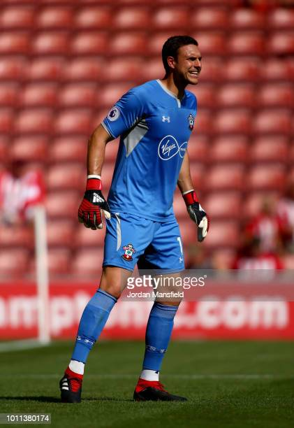 Alex McCarthy of Southampton during the preseason friendly match between Southampton v Borussia Monchengladbach at St Mary's Stadium on August 4 2018...