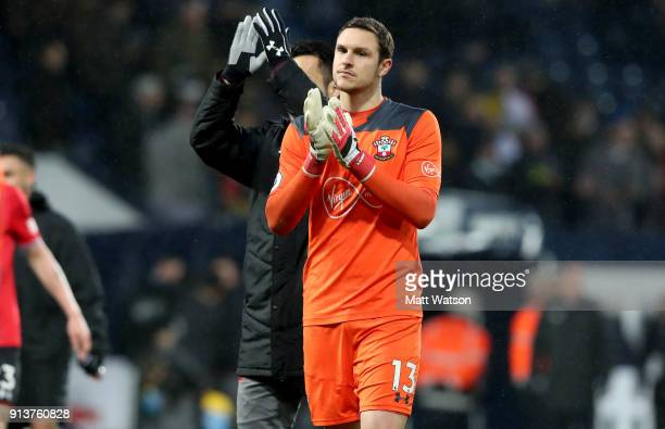 Alex McCarthy of Southampton FC during the Premier League match between West Bromwich Albion and Southampton at The Hawthorns on February 3 2018 in...