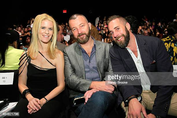 Alex McCord a guest and Ryan Zoeller attend the Academy Of Art University Spring 2015 Collections during MercedesBenz Fashion Week Spring 2015 at The...