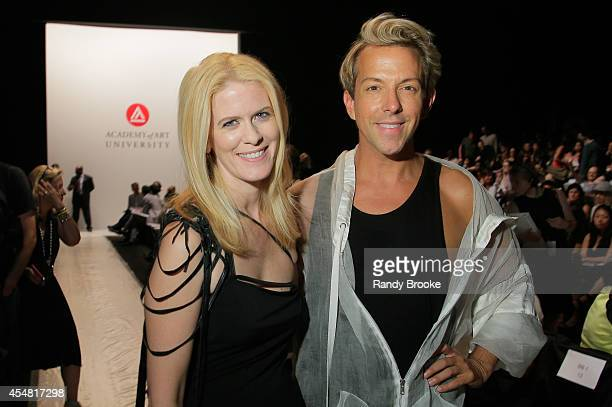 Alex McCord and Stylist Derek Warburton attends the Academy Of Art University Spring 2015 Collections during MercedesBenz Fashion Week Spring 2015 at...