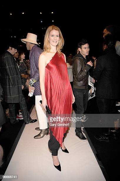 Alex McCord attends the Academy of Art University Fall 2010 fashion show during MercedesBenz Fashion Week at Bryant Park on February 13 2010 in New...