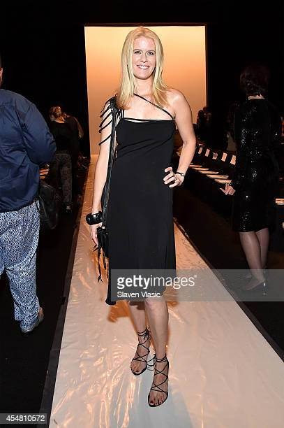 Alex McCord attends the Academy Of Art University Spring 2015 Collections during MercedesBenz Fashion Week Spring 2015 at The Theatre at Lincoln...