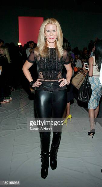 Alex McCord attends the Falguni Shane Peacock show during Spring 2014 MercedesBenz Fashion Week at The Studio at Lincoln Center on September 9 2013...