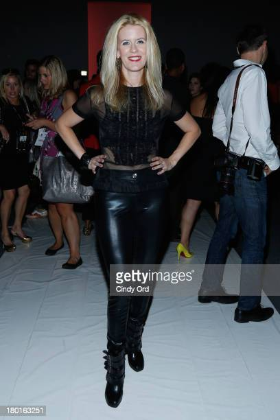 Alex McCord attends the Falguni Shane Peacock Spring Summer 14 fashion show during MercedesBenz Fashion Week Spring 2014 at The Studio at Lincoln...