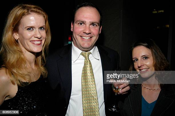 Alex McCord, Michael Abate and Angela Abate attend NAVAN invites You to Chill Out With MOBar at MOBar Mandarin Oriental on November 26, 2007 in New...