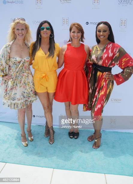 Alex McCord Patti Stanger Jill Zarin and Cynthia Bailey attend Jill Zarin's 2nd Annual Luxury Ladies Luncheon on July 13 2014 in Southampton New York