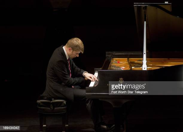 Alex McDonald of the United States performs in the preliminary round of the 14th Van Cliburn International Piano Competition at the Bass Performance...